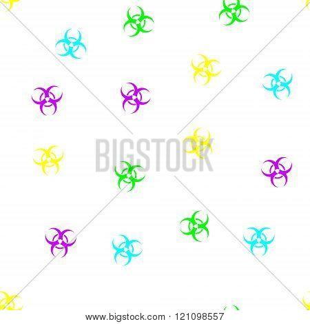 Biohazard Seamless Flat Glyph Pattern