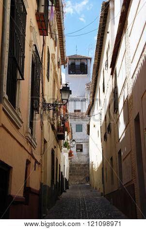 Albaicin side street, Granada.