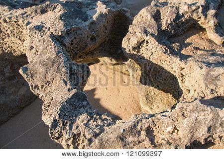 Rocks On The Coast Of Atlantic Ocean