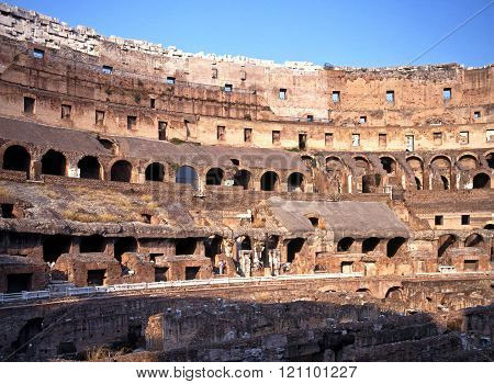 Inside the Colosseum, Rome.