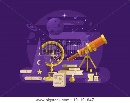 Astronomy design retro