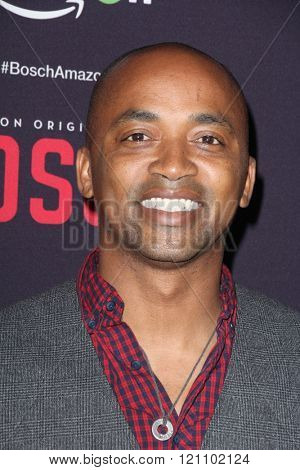 LOS ANGELES - MAR 3:  Dajuan Johnson at the Bosch Season 2 Premiere Screening at the Silver Screen Theater at the Pacific Design Center on March 3, 2016 in West Hollywood, CA