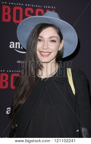 LOS ANGELES - MAR 3:  Emilia Zoryan at the Bosch Season 2 Premiere Screening at the Silver Screen Theater at the Pacific Design Center on March 3, 2016 in West Hollywood, CA