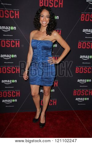 LOS ANGELES - MAR 3:  Daya Vaidya at the Bosch Season 2 Premiere Screening at the Silver Screen Theater at the Pacific Design Center on March 3, 2016 in West Hollywood, CA