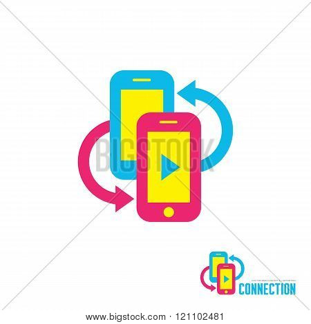 flat, sign, concept, silhouette, symbol, graphic, design, phone, mobile, telephone, cellphone, vecto