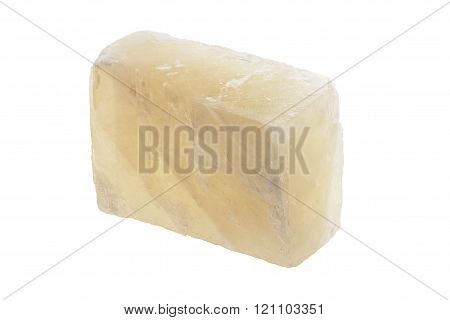 mineral Iceland spar a sample on a white background