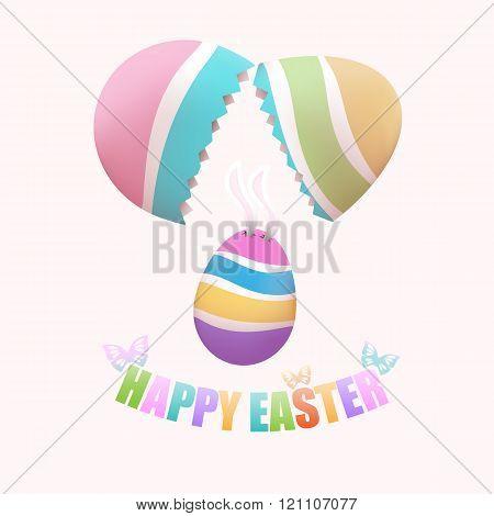Broken egg with Easter egg inside