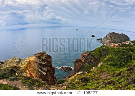 Capo Sandalo at west coast of San Pietro island, Sardinia