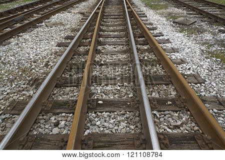 railroad tracks background