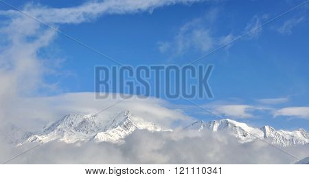 Panoramic View Of Mont-blanc