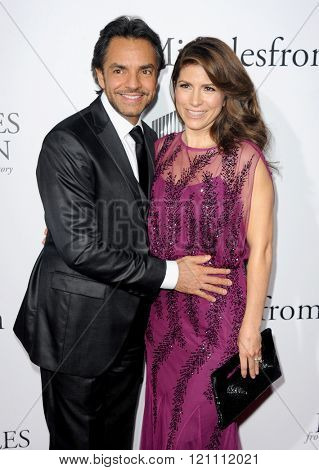 Eugenio Derbez and Alessandra Rosaldo at the Los Angeles premiere of 'Miracles From Heaven' held at the ArcLight Cinemas in Hollywood, USA on March 9, 2016.