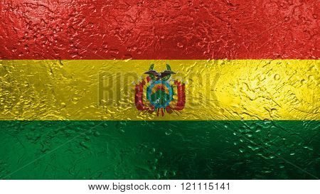 Flag of Bolivia , Bolivian flag painted on metal texture