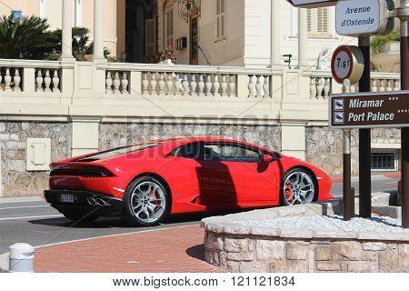 Red Lamborghini Huracan Lamborghini Huracan Lp 610N Monaco