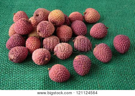 Assortment Of Tasty And Fresh Litchi Exotic Fruits