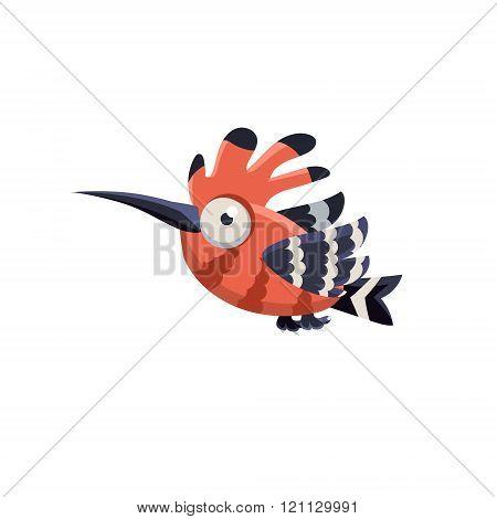 Funny Multicolor Hoopoe