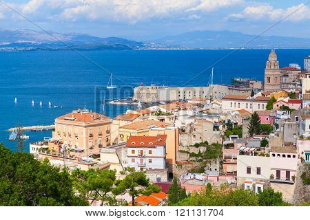 Cityscape Of Old Part Gaeta Town, Italy