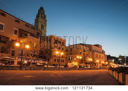 Cityscape Of Old Gaeta Town With Bell Tower