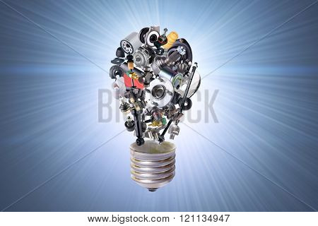 Electric bulb with auto parts