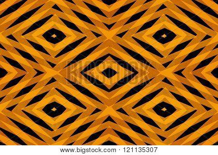 Retro Orange Diamond Shapes Pattern