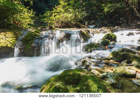 A River Headwaters Flows Over Rocks