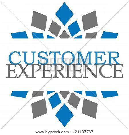 Customer Experience Blue Grey Elements Square