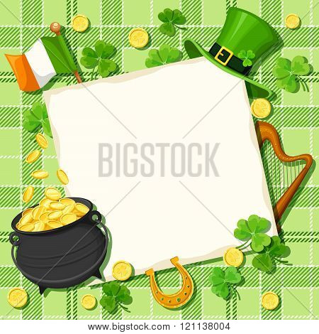 St. Patrick's day card. Vector eps-10.