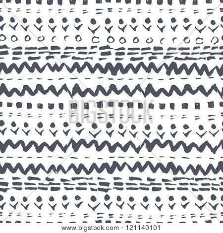 Black and white aztec pattern Navajo style. aztec abstract geometric print. ethnic hipster backdrop.