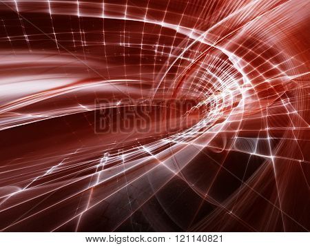 Abstract red and black background design. Detailed computer graphics.