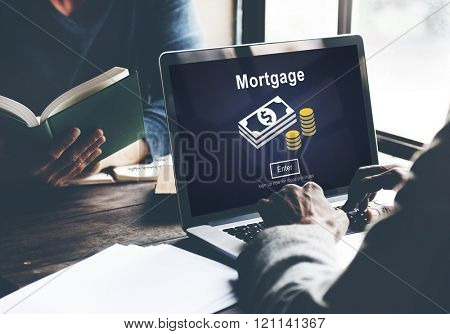 Mortgage Payment Debt Finance Webiste Online Concept
