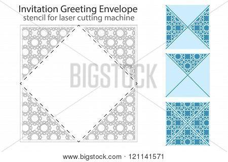 Envelope template For Laser cut