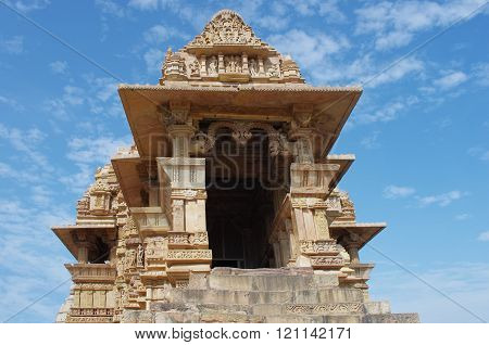 Temple In Khajuraho. Madhya Pradesh, India