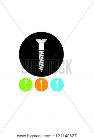Screw vector icon