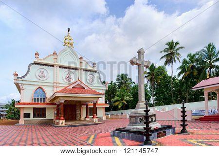 St. Joseph's church in Chennamkari near Alleppey in Kerala, India