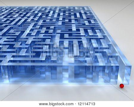 Glas-labyrinth
