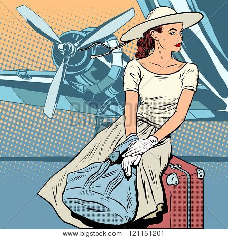 Lady traveler at the airport