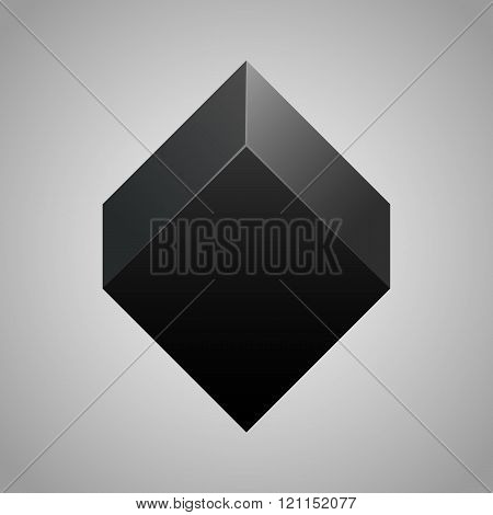 vector black cube