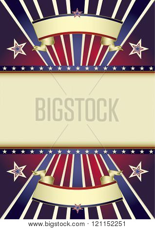 Background party. A retro background with multicolor sunbeams and a frame for your message