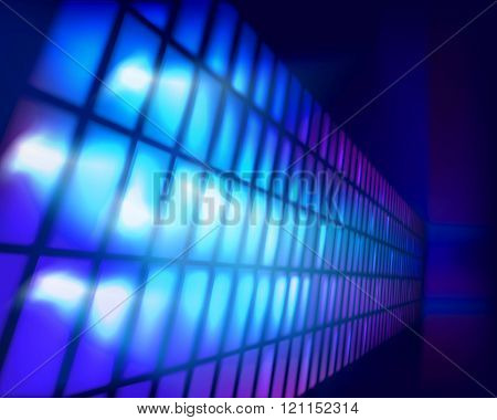 Led projection screen. Vector illustration.