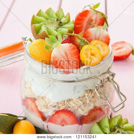 Porridge With Fruits And Yogurt