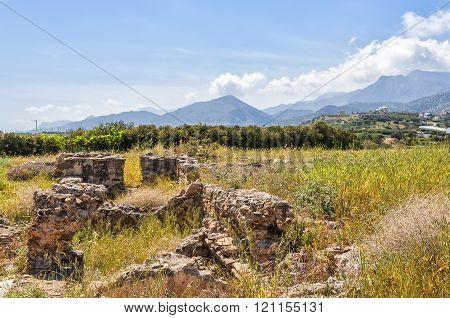 Roman Villa Ruins At Makry Gialos