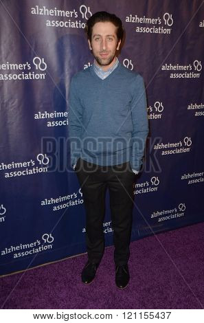 LOS ANGELES - MAR 9:  Simon Helberg at the A Night at Sardis - 2016 Alzheimer's Association Event at the Beverly Hilton Hotel on March 9, 2016 in Beverly Hills, CA