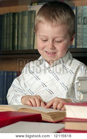 child read a book