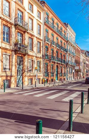 Vintage Houses From Red Bricks, Toulouse