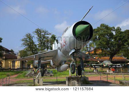 MiG-21 close up. City Museum, Hue