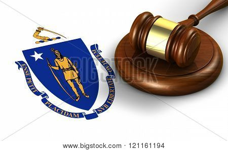 Massachusetts Law Legal System Concept