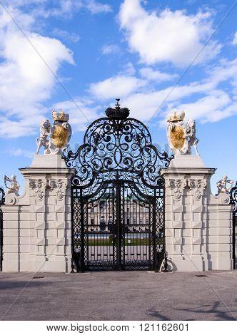 Main Gate To Belvedere In Vienna