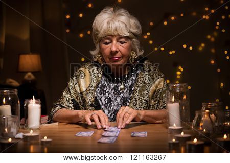 Fortune Teller Reading Tarot Cards