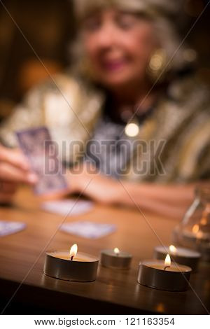 Fortune Teller With Candles