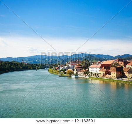 Maribor Old Town View. Slovenia, Europe.