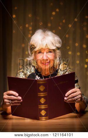 Fortune Teller With Magic Spellbook